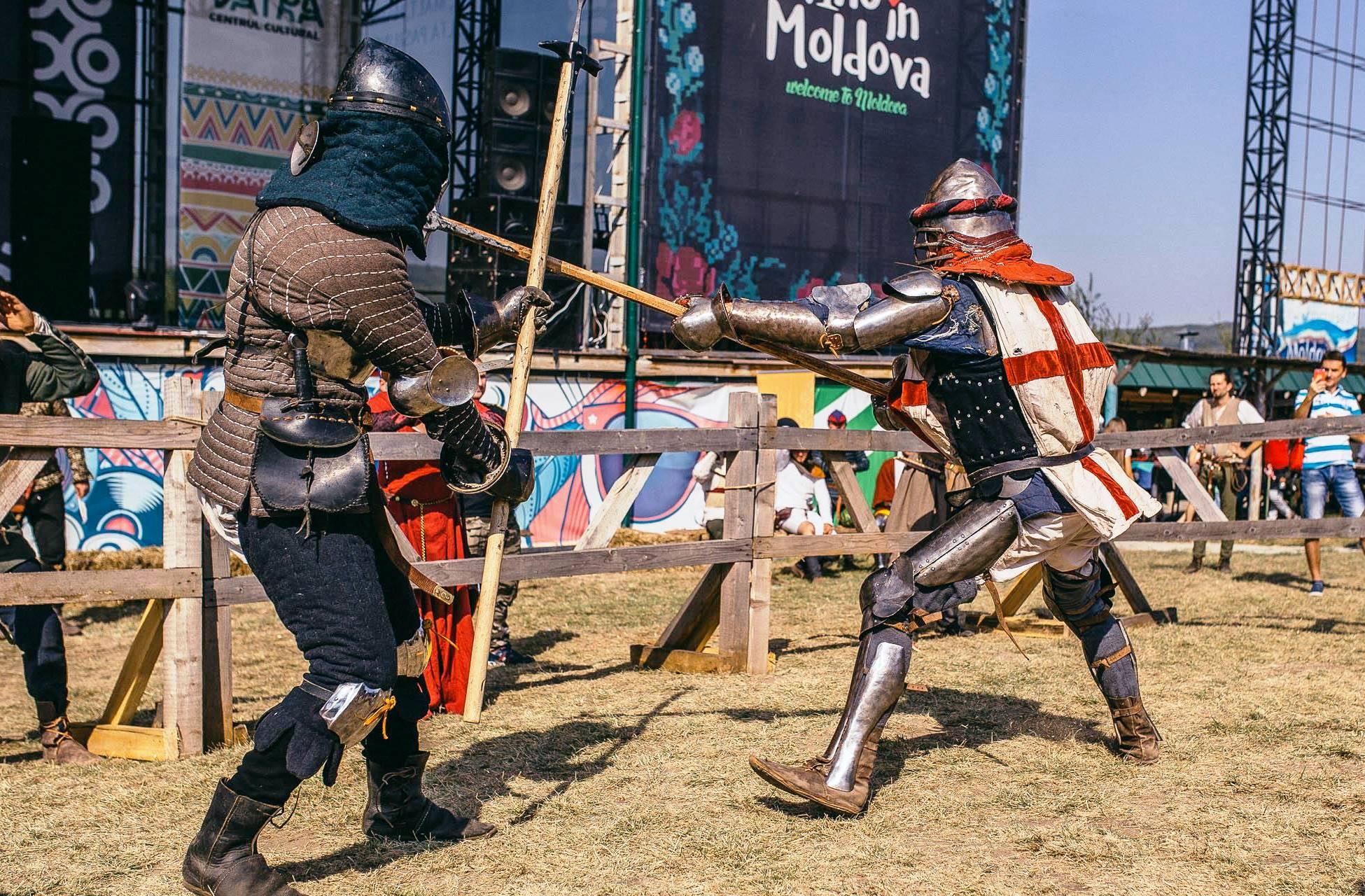 turnir 1 la 1 cavaleri festival medieval 2018 md vatra