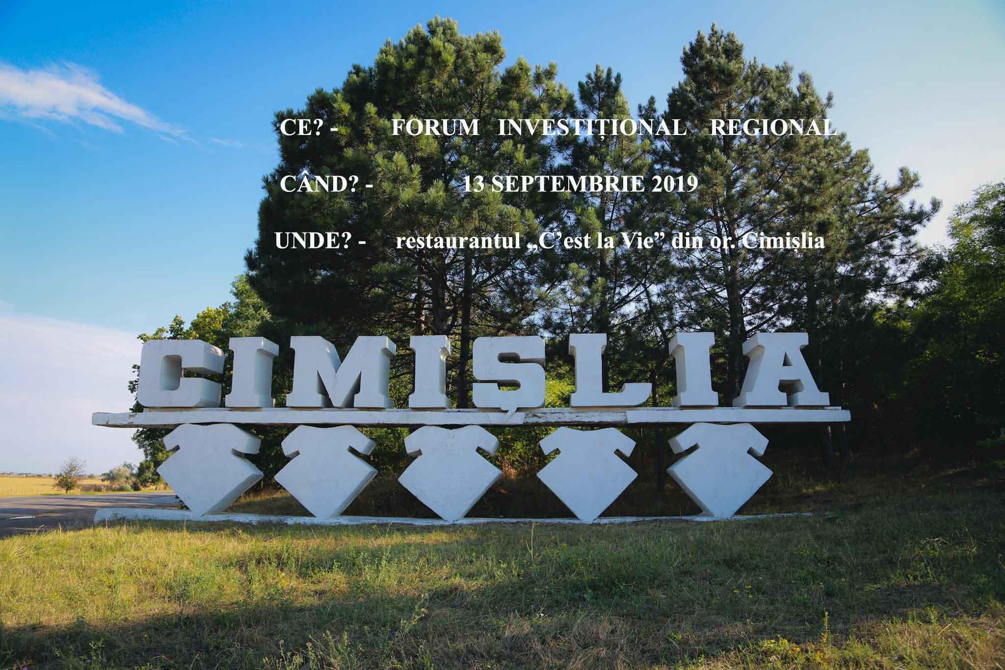 forum investitinal regional